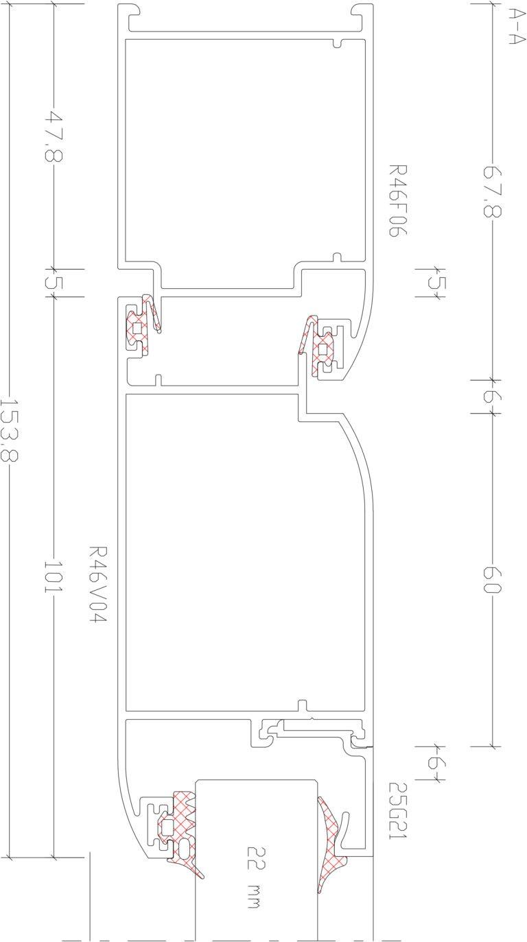 RW46 Rescara | Чертеж дверного узла