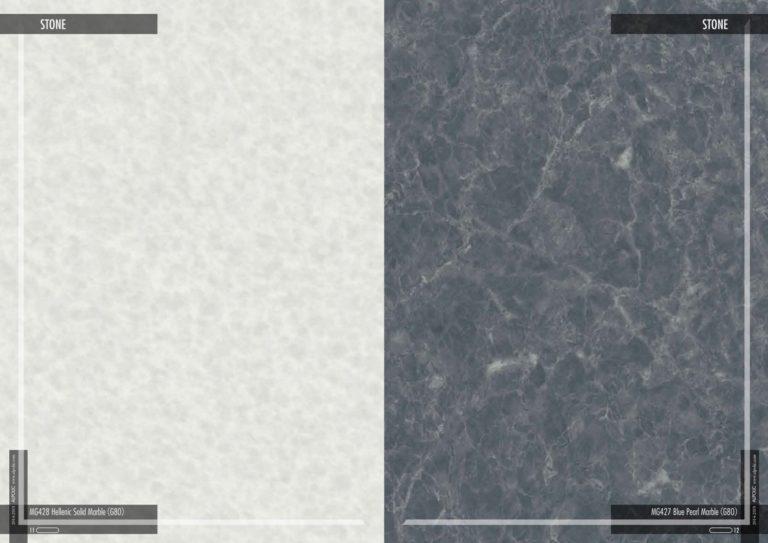 Фасадные панели Алполик под эллинский твердый мрамор и черный жемчужный мрамор