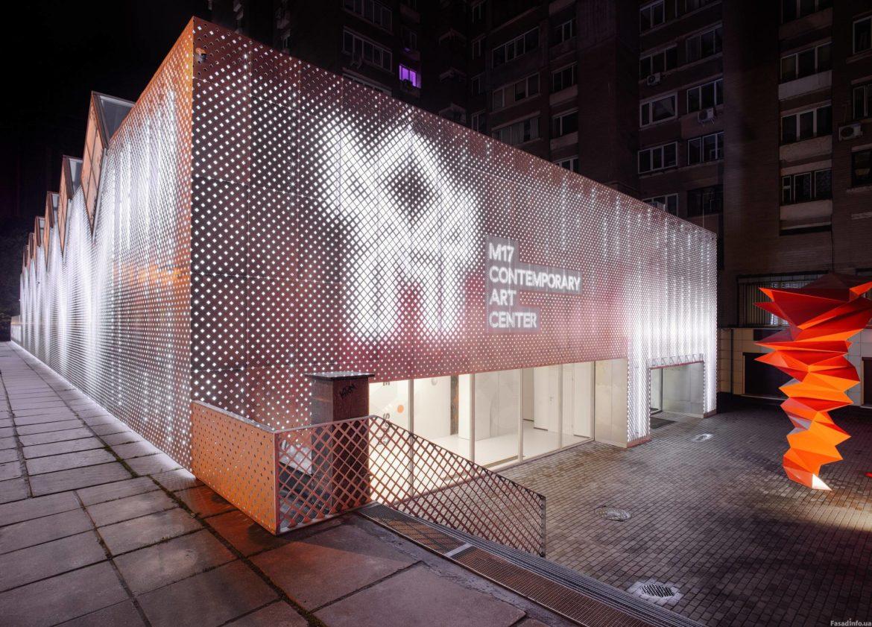 Перфорация фасадных панелей