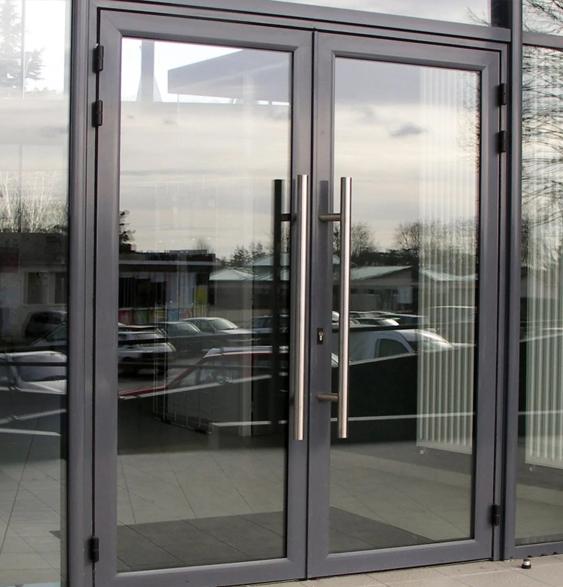 холодные алюминиевые двери