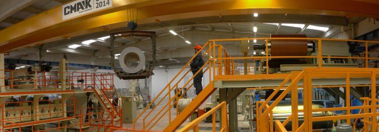 Об'сяг виробництва: 6 000 000 м2/рік